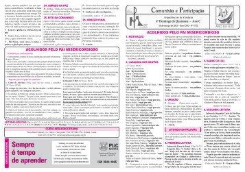 10 de março de 2013 - Arquidiocese de Goiânia