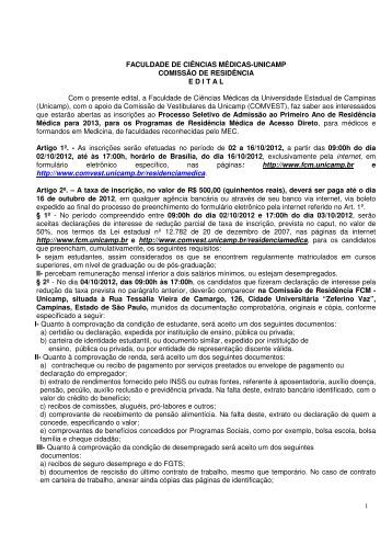 faculdade de ciências médicas-unicamp comissão ... - MEDGRUPO