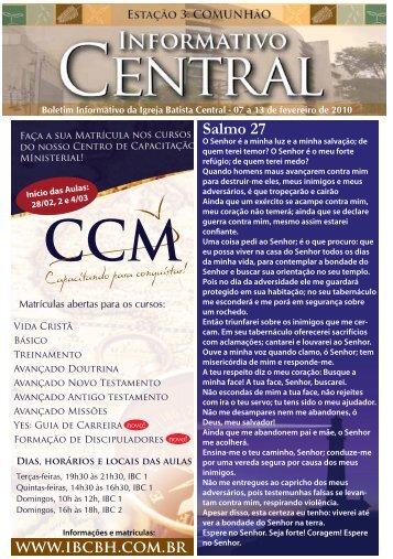 www.ibcbh.com.br Salmo 27 - Igreja Batista Central