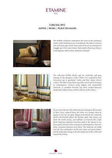 Collection 2012 ALPINE | MURA | PLACE DE ... - Zimmer + Rohde