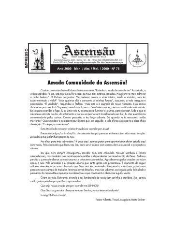Março á Maio 2009 - Comunidade Evangélica da Ascensão