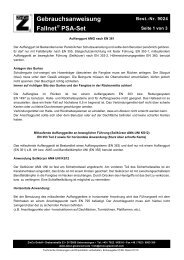 Gebrauchsanweisung Fallnet PSA-Set - ZinCo