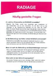 RADIAGE TM Fragen, Methode