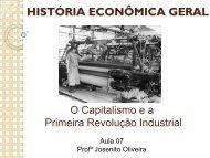 O Capitalismo e a Primeira Revolução Industrial - sergipe