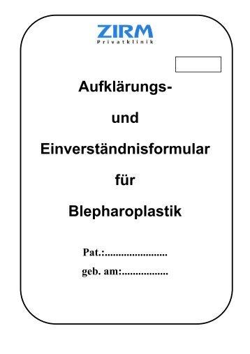 Blepharoplastik - ZIRM Privatklinik