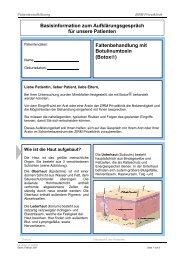 Faltenbehandlung mit Botulinumtoxin (Botox ... - ZIRM Privatklinik