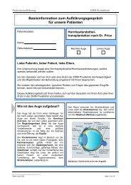 Basisinformation zum Aufklärungsgespräch für ... - ZIRM Privatklinik