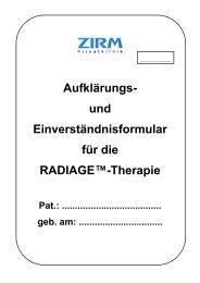 radiage - ZIRM Privatklinik