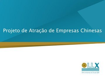 Projeto de Atração de Empresas Chinesas
