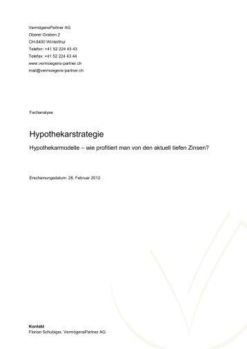 Hypothekarstrategie - VermögensPartner AG