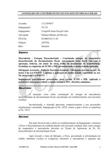 Microsoft Word - 13218992\252.doc - Secretaria de Estado de ...