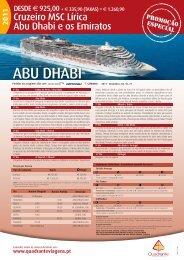 ABU DHABI - Ofertas de Viagens