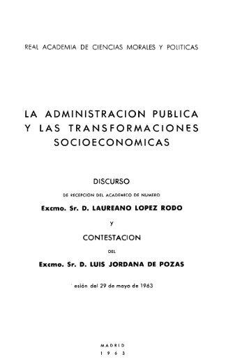La administración pública y las transformaciones socioeconómicas