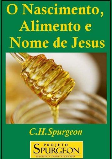 O Nascimento, Alimento e Nome de Jesus - Projeto Spurgeon
