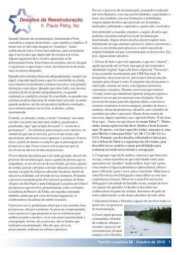 Desafios da Reestruturação Ir. Paulo Petry, fsc - Portal La Salle