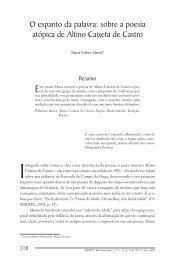 O espanto da palavra: sobre a poesia atópica - PUC Minas