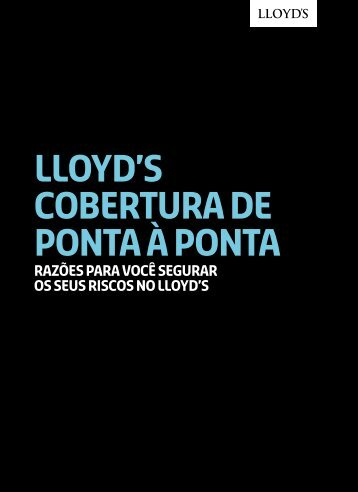 lloyd's COBERTURA de Ponta à Ponta