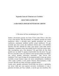 livro apócrifo: segunda carta de clemente aos coríntios