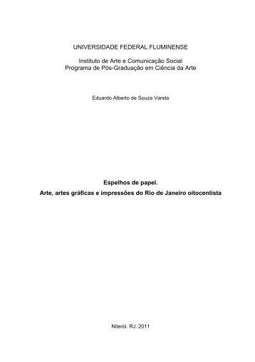 UNIVERSIDADE FEDERAL FLUMINENSE Instituto de Arte e ... - UFF