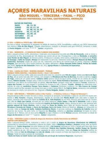 CIRCUITO AÇORES MARAVILHAS NATURAIS 2011.pdf - Terra Nova