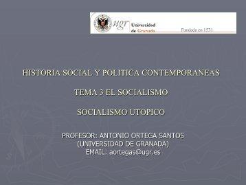 origen del socialismo - Contemporaneaugr.es