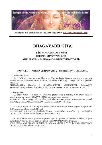 BHAGAVADH GÁTÓ - Shri Yoga Devi