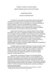 Tradição e invenção na mente do analista: Algumas reflexões a ...