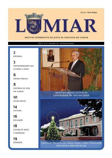 Nº 31 Dezembro de 2011 - Junta de Freguesia do Lumiar