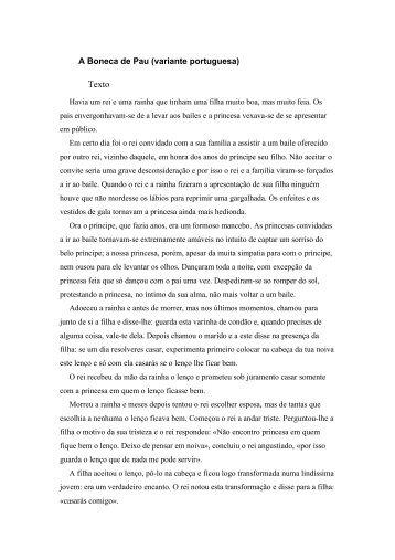 A Boneca de Pau (variante portuguesa)