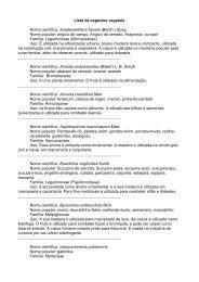 Lista de espécies vegetais Nome científico ... - UFSCar
