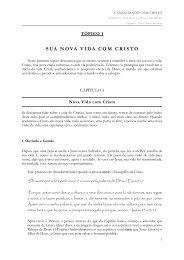Capítulo 1 - Iniciando a Nova Vida com Cristo