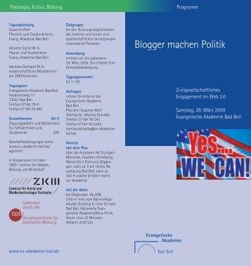 Blogger machen Politik - ZKM