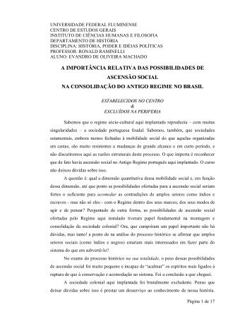 poder e idéias políticas no antigo regime - Mortalcombate.net