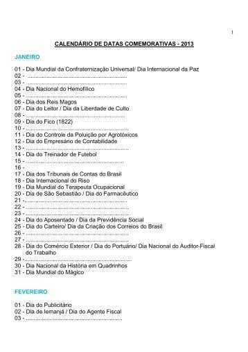 Calendario Datas Comemorativas 2013 - revisado - ANJ