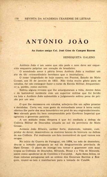 Antonio João - Henriqueta Galeno