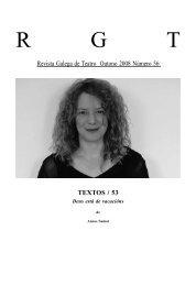 Deus esta de vacacions - Revista Galega de Teatro