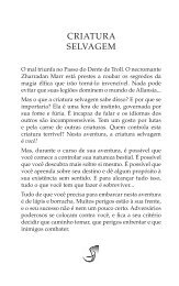 Preview de Criatura Selvagem - Jambô Editora