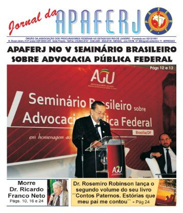 JORNAL DA APAFERJ - www.apaferj.org 1 AGOSTO/SETEMBRO ...
