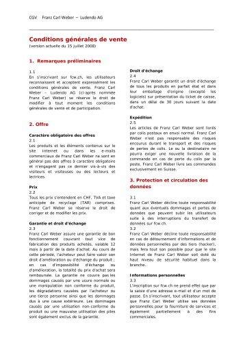 Téléchargement PDF - Franz Carl Weber