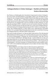 Schlagwortketten in Online-Katalogen – Realität und Potenzial