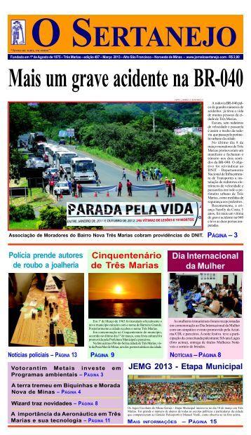 Três Marias - Jornal O Sertanejo