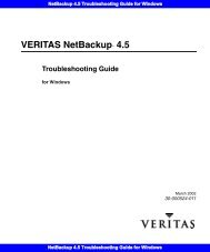 NetBackup 4.5 Troubleshooting Guide for Windows - Symantec