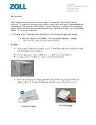 Dear Customer - ZOLL Medical Corporation
