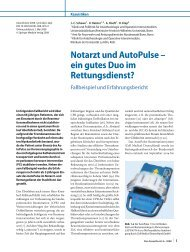 Notarzt und AutoPulse - ZOLL Medical Corporation