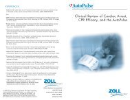 Clinical Review of Cardiac Arrest, CPR Efficacy, and the AutoPulse