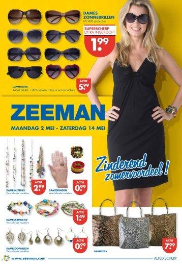 2.99 mAANdAG 2 mEI - ZATERdAG 14 mEI - Zeeman