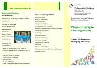Physiotherapie Albstadt - Zollernalb Klinikum gGmbH