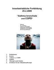 Asthma bronchiale und COPD Handout - Zollernalb Klinikum gGmbH