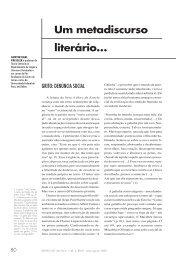 Um metadiscurso literário… … sobre a arte de escrever - USP