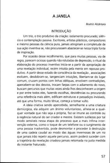 A Janela - Beatriz Alcantara